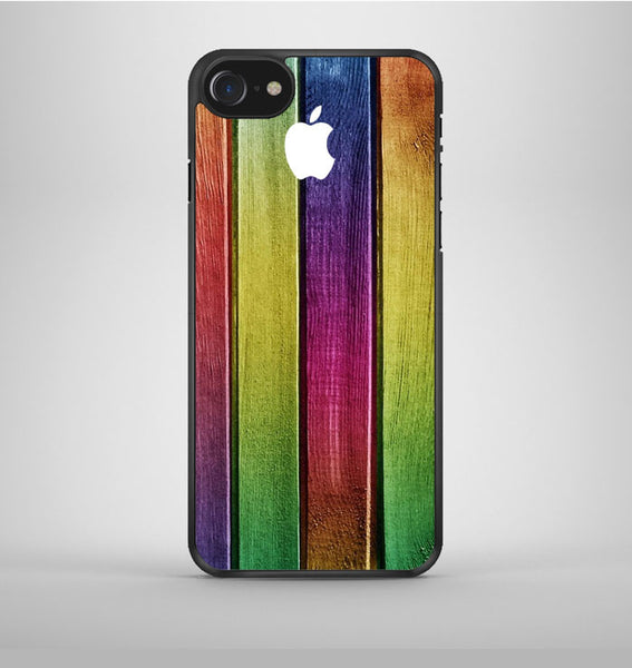 Colorful Wood Background iPhone 7 Case Avallen