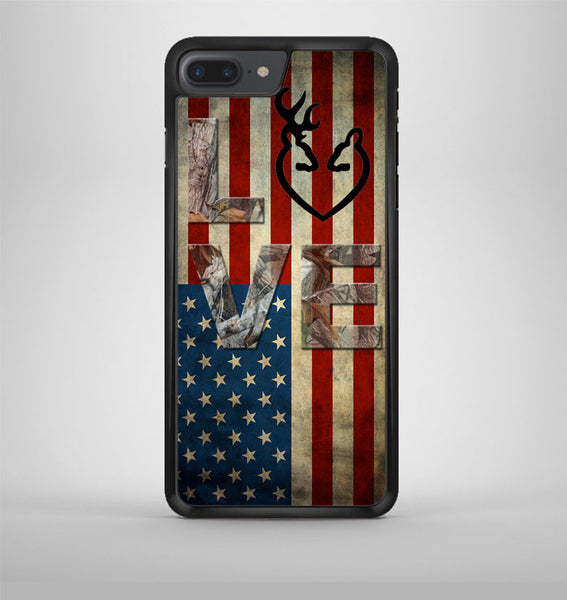 Deer Camo With Love Flag iPhone 7 Plus Case Avallen