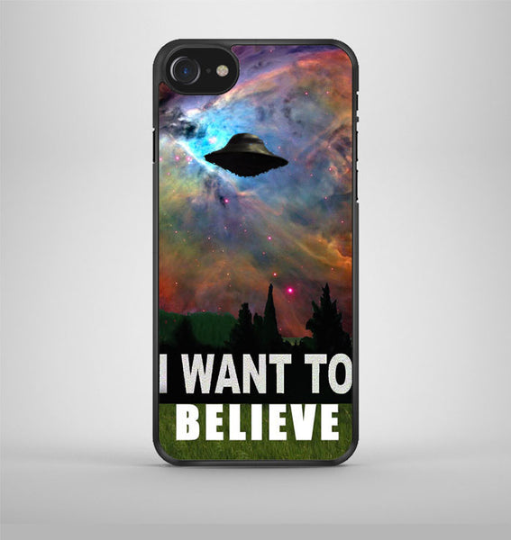 I Want To Belive Xfile Movie Nebula Space iPhone 7 Case Avallen