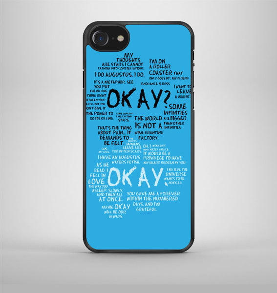 The Fault In Our Stars Quotes 2 iPhone 7 Case Avallen