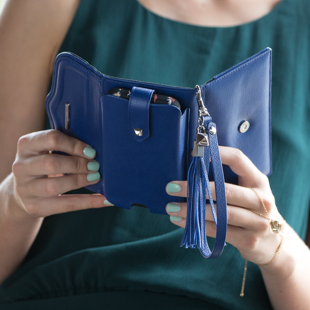 Universal Cobalt Wristlet With Tassel By Rebecca Minkoff - lifestyle angle 1