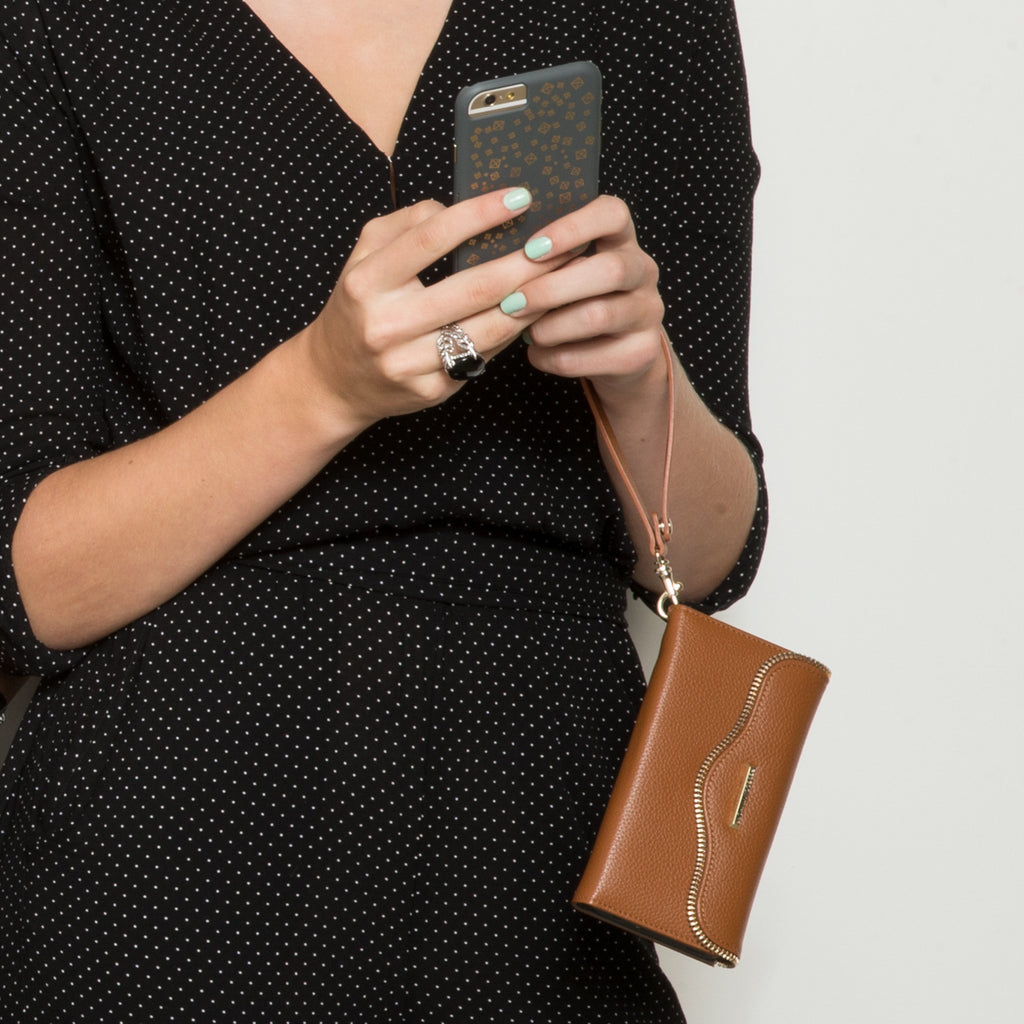 iPhone 6s Almond Charging Wristlet - lifestyle angle 1