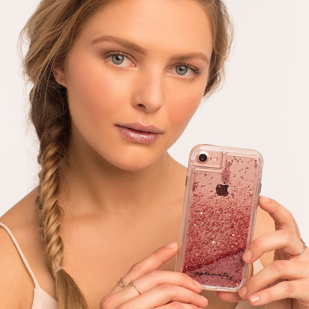 Rose Gold Waterfall iPhone 7 Case Model