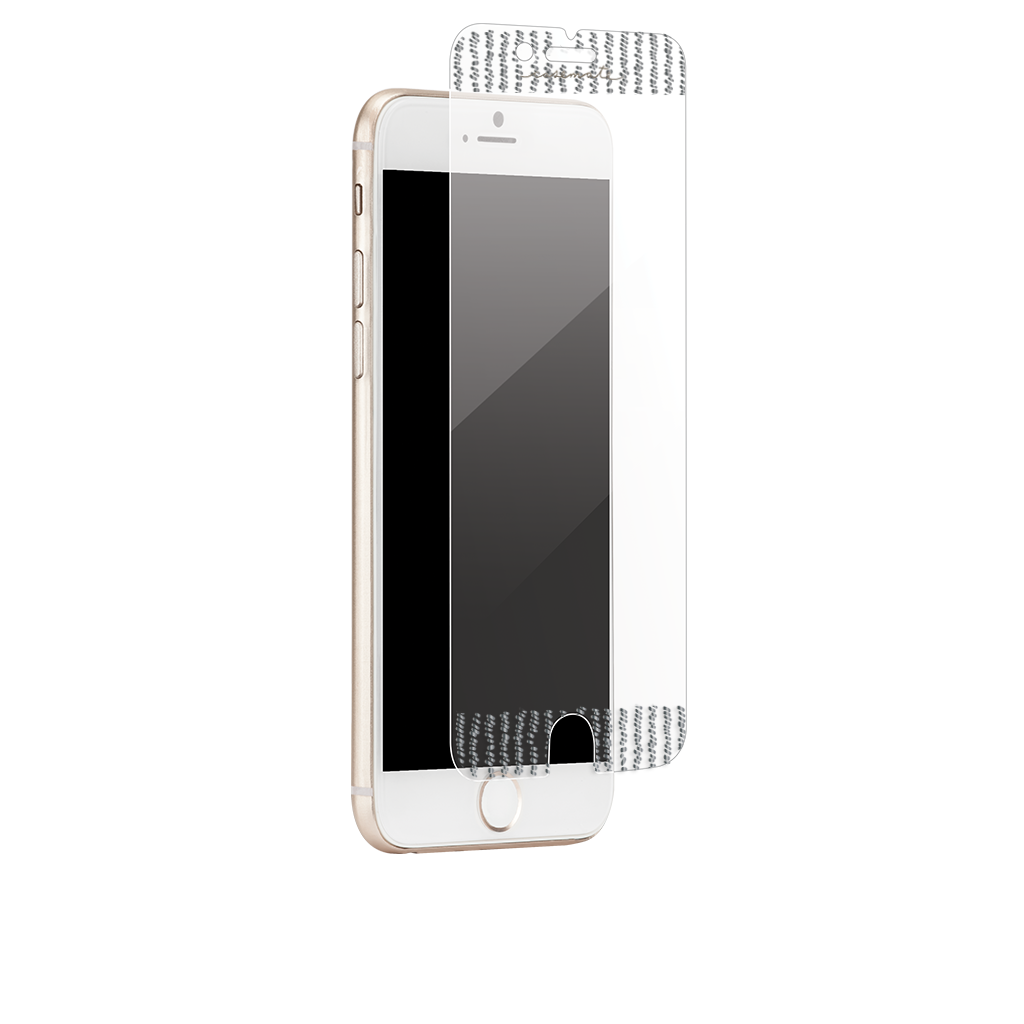 Silver Gilded Glass iPhone 7 Screen Protector Placement