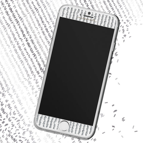 iPhone 6 / 6s / 7 Gilded Glass Screen Protector - Silver
