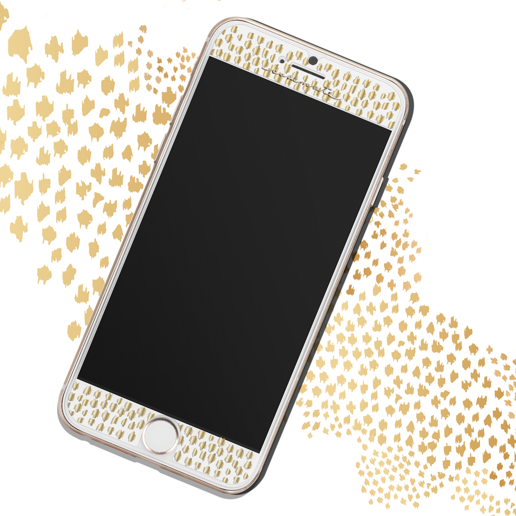 Gold Gilded Glass iPhone 7 Plus Screen Protector Pattern