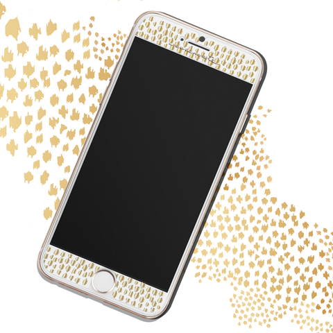iPhone 6 / 6s / 7 Gilded Glass Screen Protector - Gold