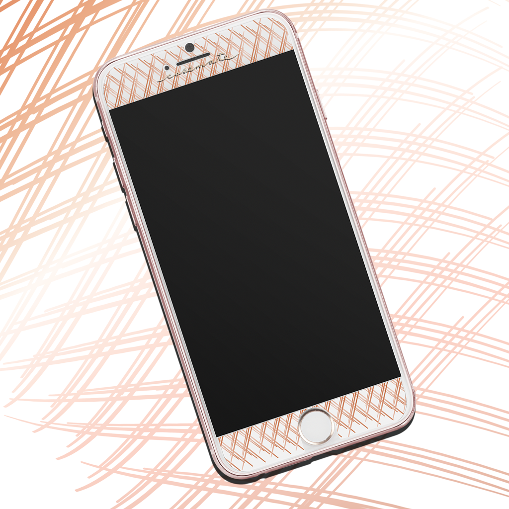 Rose Gold Gilded Glass iPhone 7 Plus Screen Protector Pattern