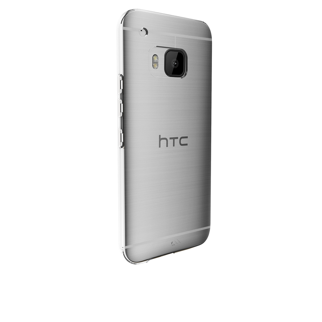 HTC One M9 Clear Barely There Case - image angle 1