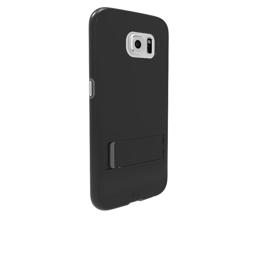 Samsung Galaxy S6 Black & Titanium Tough Stand Case - image angle 1