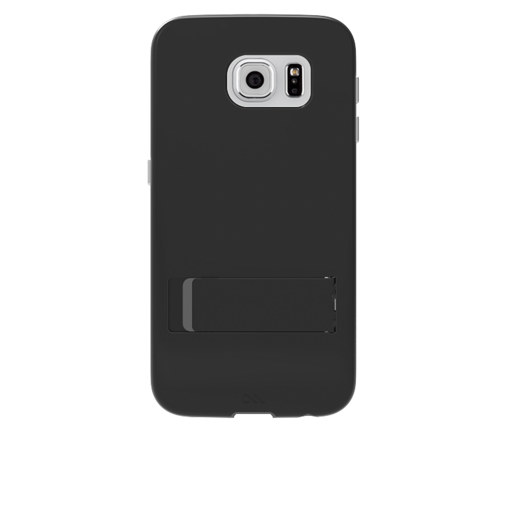 Samsung Galaxy S6 Black & Titanium Tough Stand Case - image angle 7