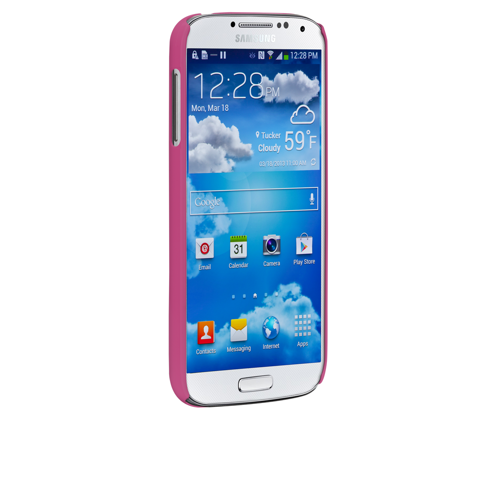 Samsung GALAXY S4 Pink Barely There Case - image angle _2