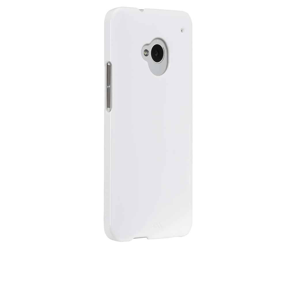 HTC One (M7) Glossy White Barely There Case - image angle 1