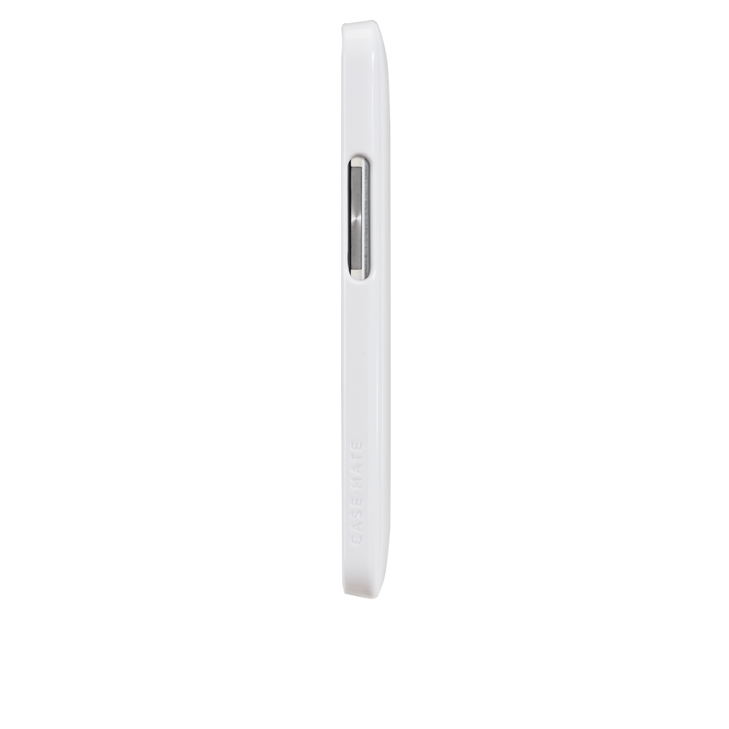 HTC One (M7) Glossy White Barely There Case - image angle 5