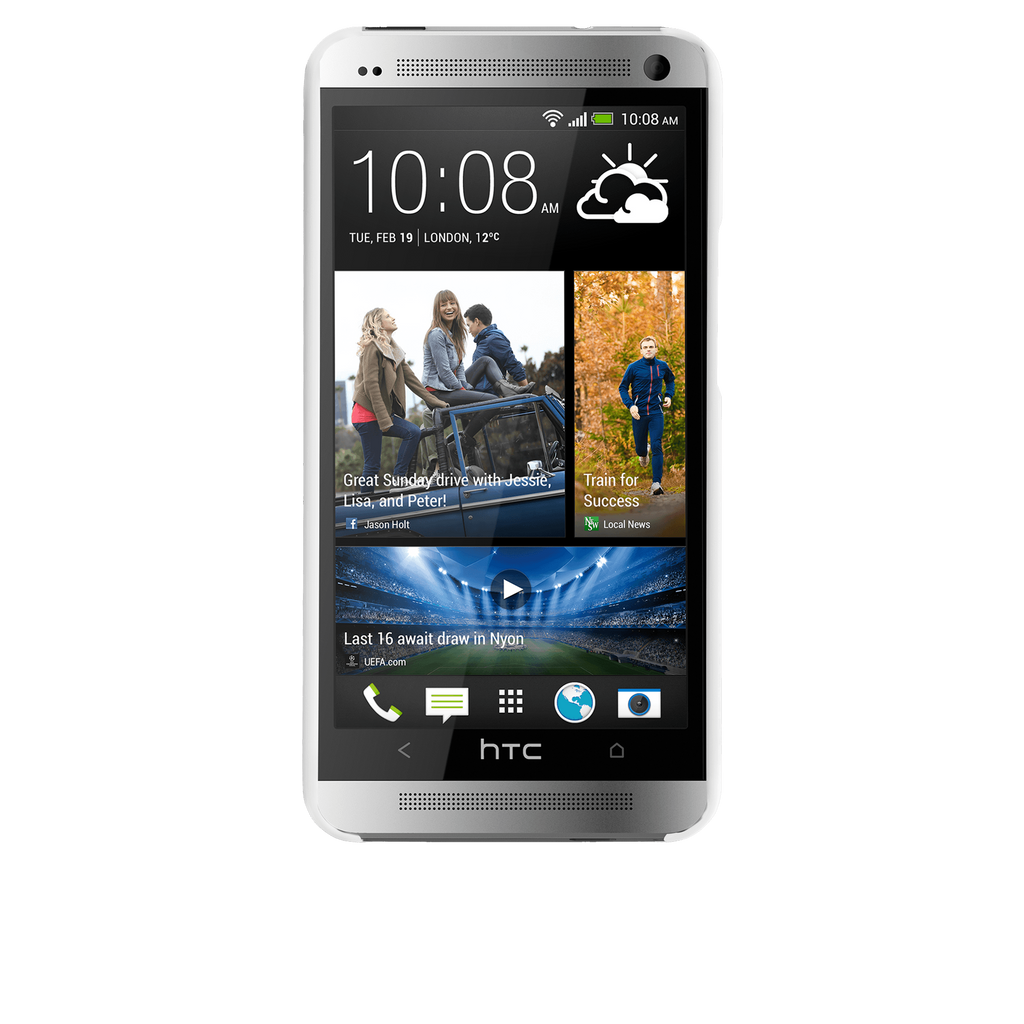 HTC One (M7) Glossy White Barely There Case - image angle 6