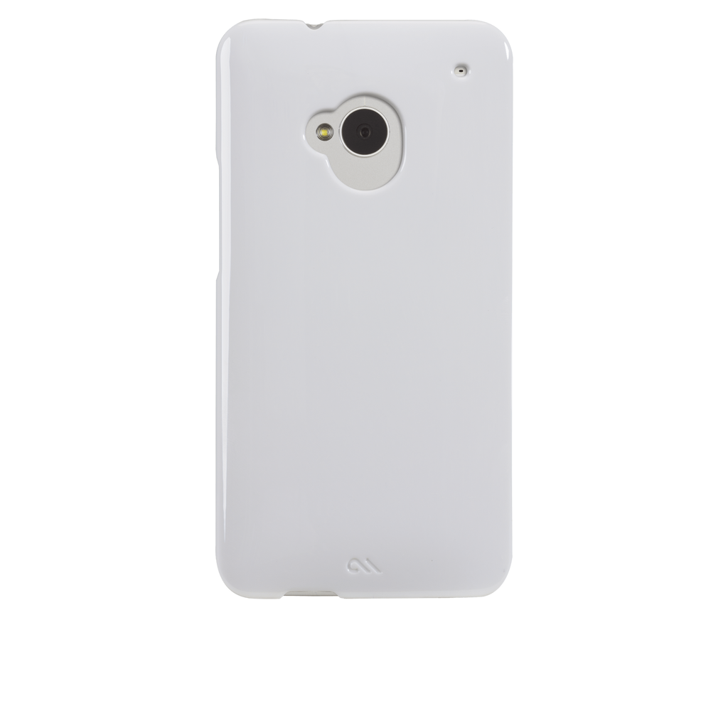 HTC One (M7) Glossy White Barely There Case - image angle 7