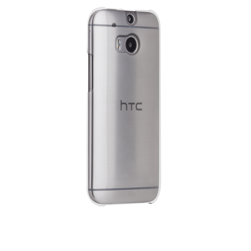 HTC One (M8) Clear Barely There Case - image angle 1