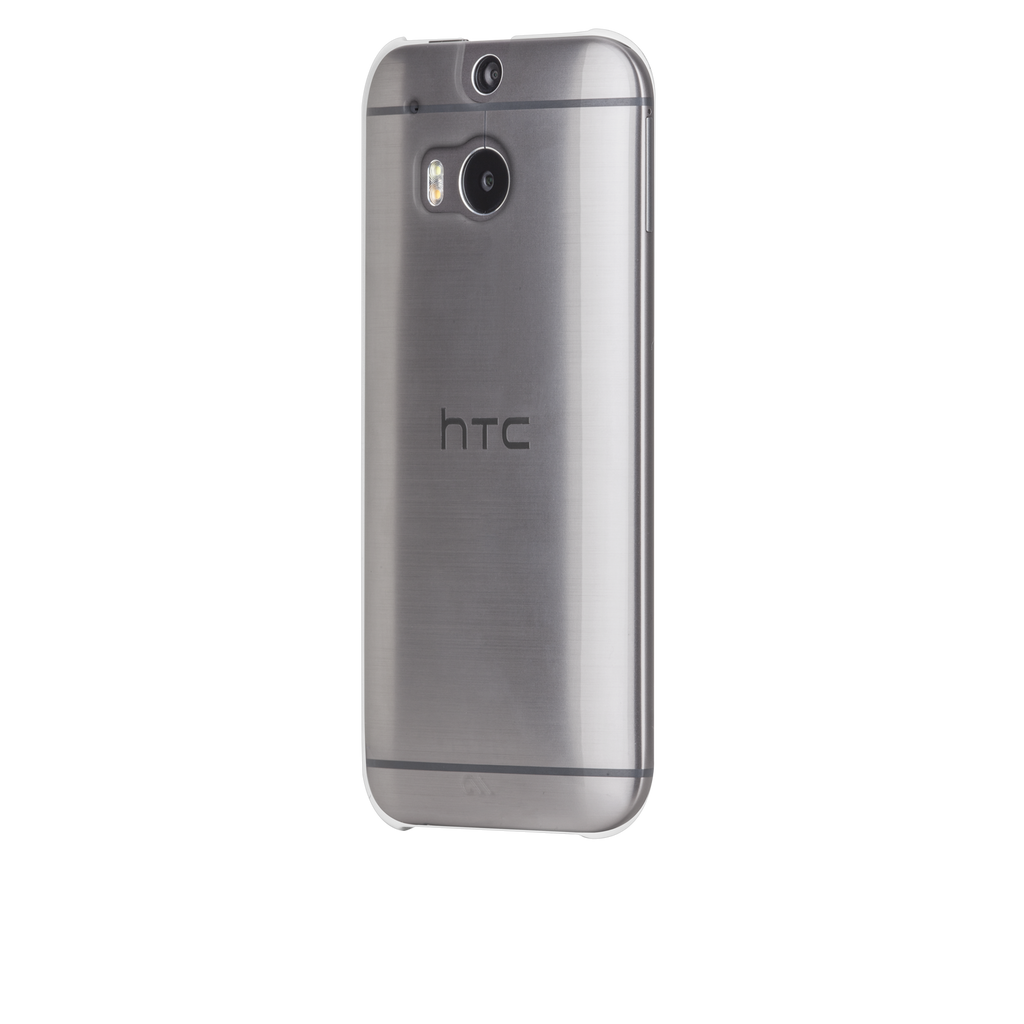 HTC One (M8) Clear Barely There Case - image angle 3