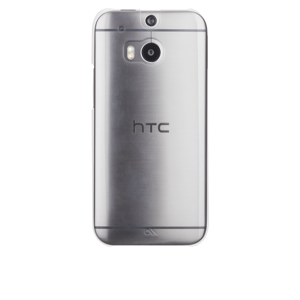 HTC One (M8) Clear Barely There Case - image angle 7