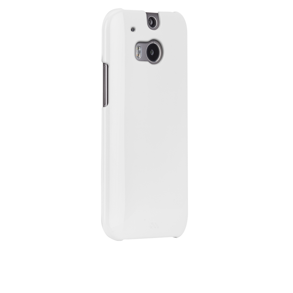 HTC One (M8) White Barely There Case - image angle 1