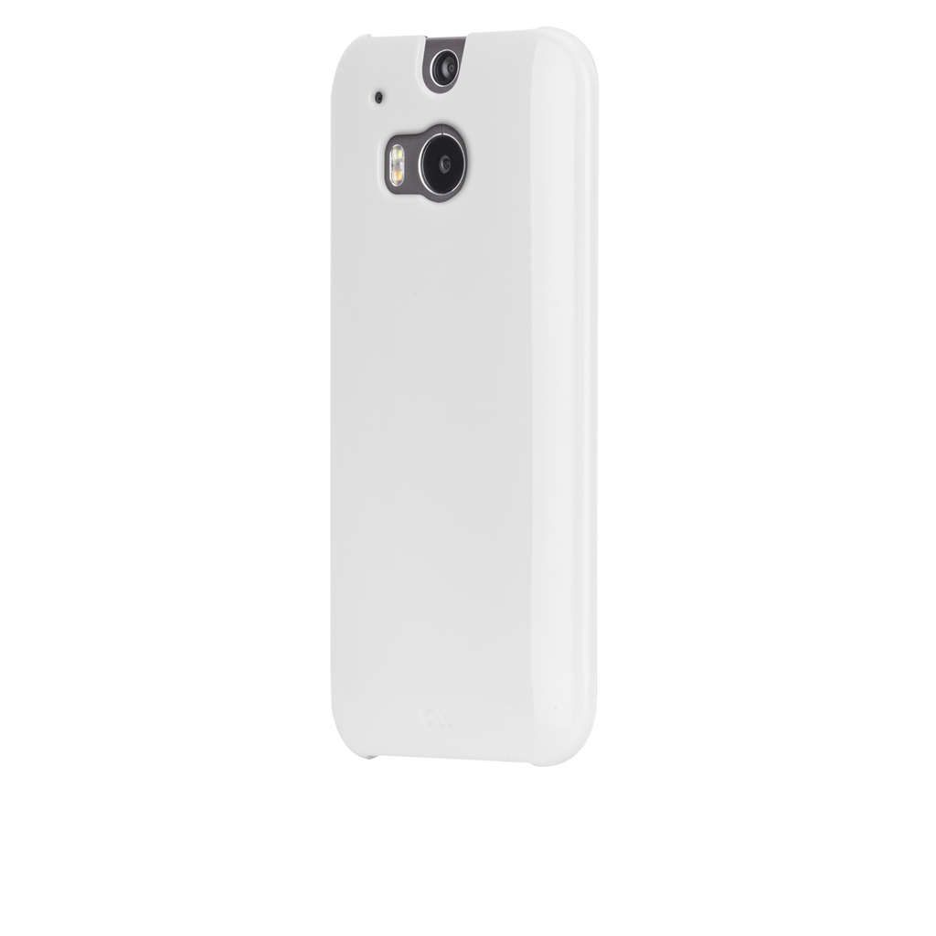 HTC One (M8) White Barely There Case - image angle 3