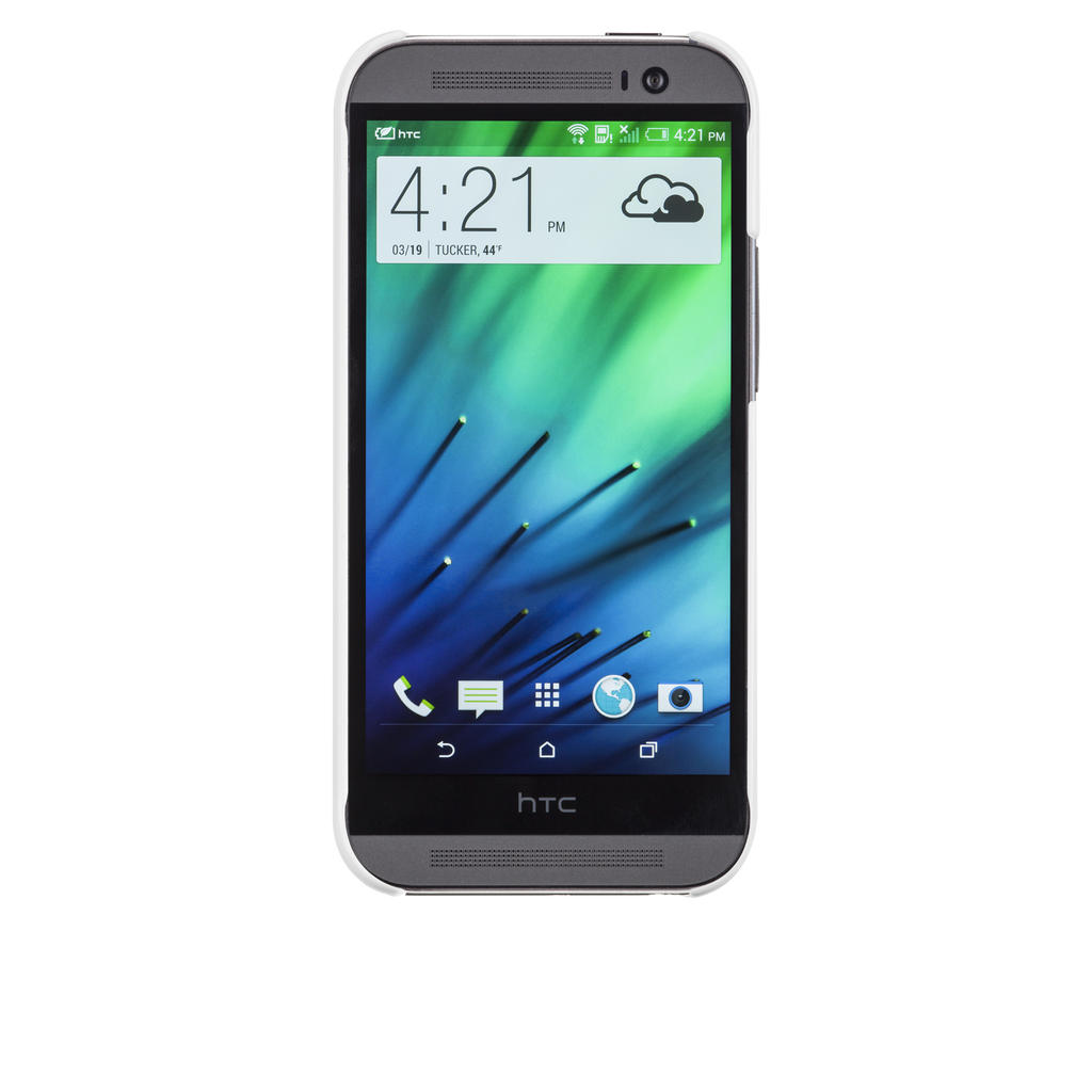 HTC One (M8) White Barely There Case - image angle 6