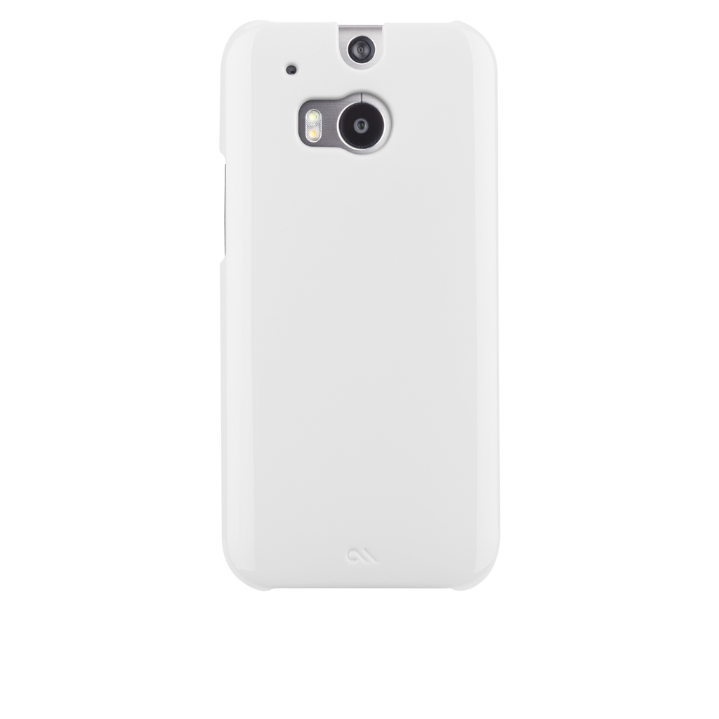HTC One (M8) White Barely There Case - image angle 7