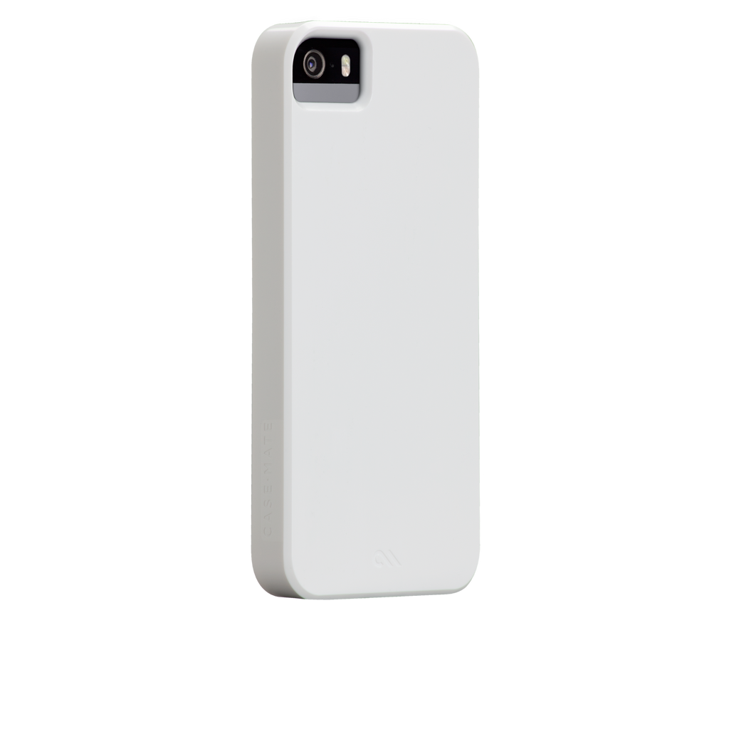 iPhone 5/5s Glossy White Barely There Case - image angle 1