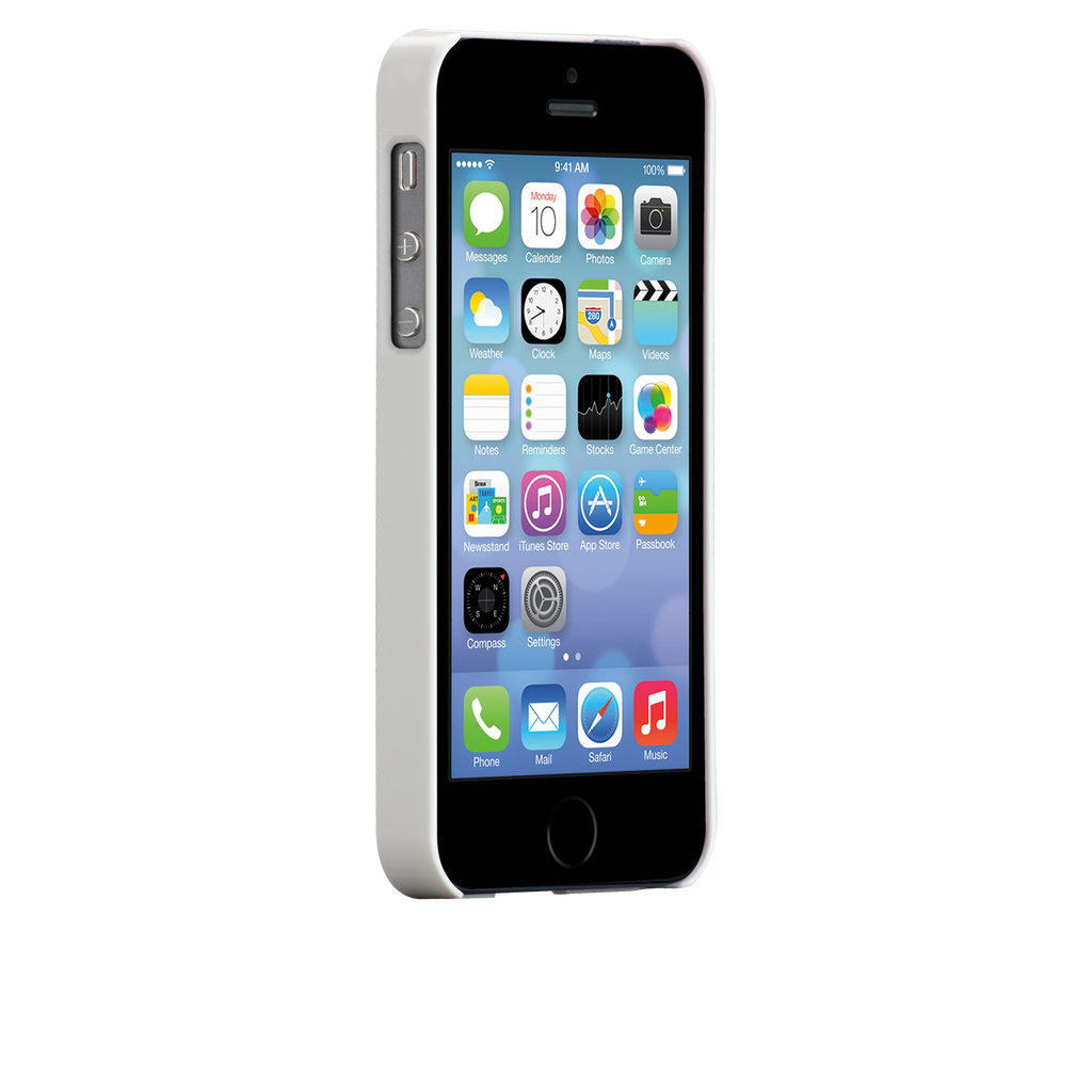 iPhone 5/5s Glossy White Barely There Case - image angle 2
