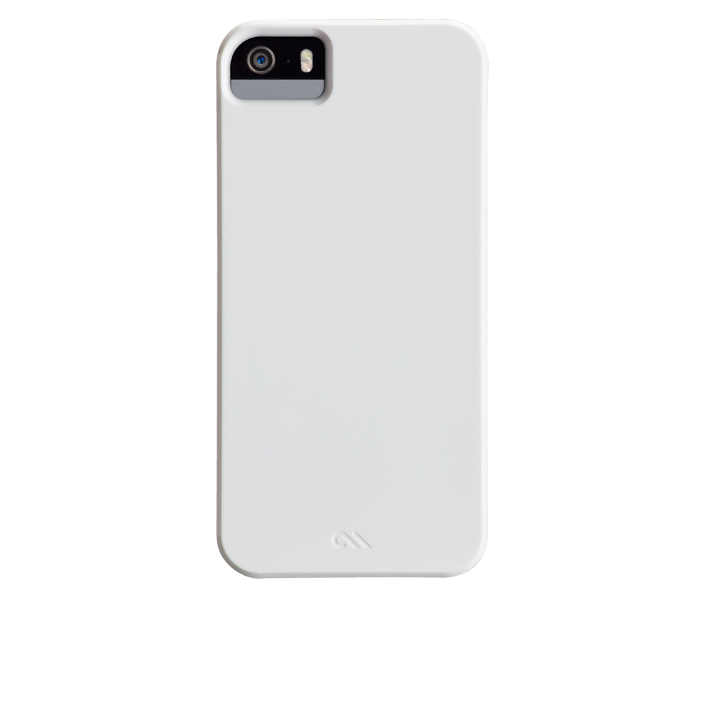 iPhone 5/5s Glossy White Barely There Case - image angle 7