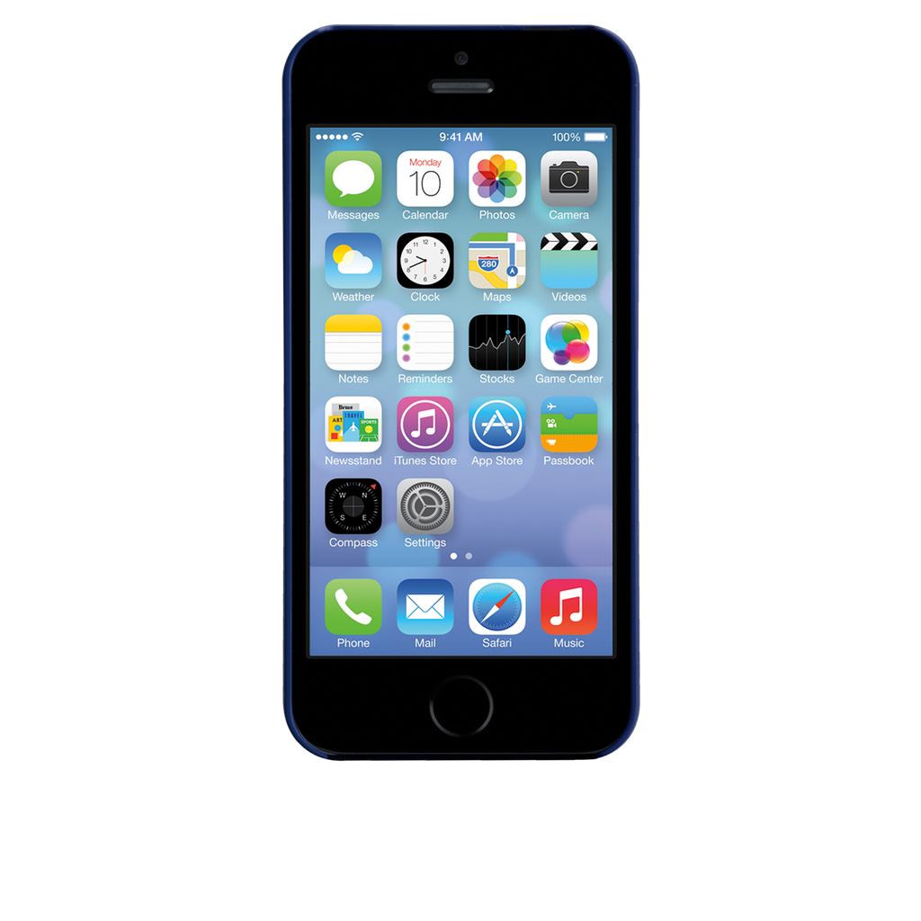 iPhone 5/5s Marine Blue Barely There Case - image angle 6