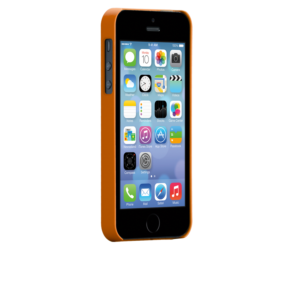 iPhone 5/5s Tangerine Tango Orange Barely There Case - image angle 2