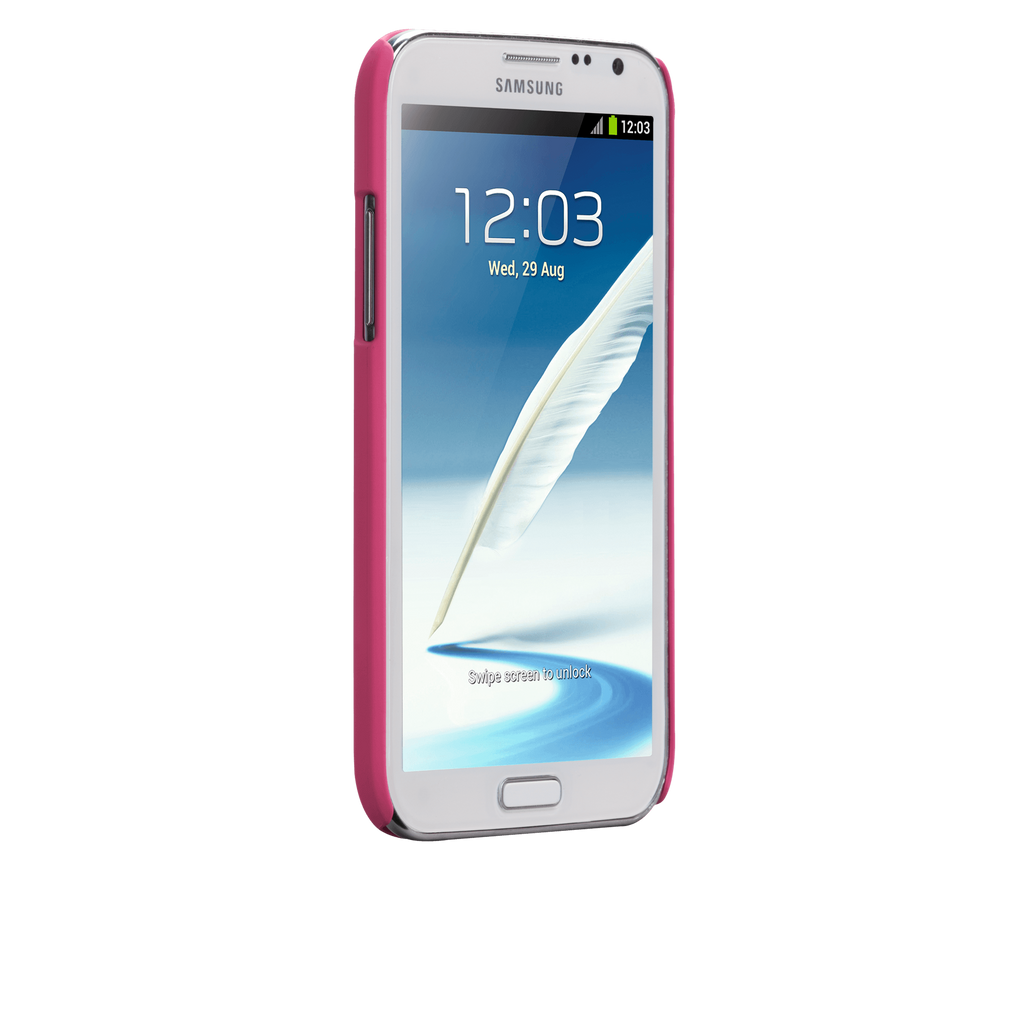Samsung GALAXY Note 2 Lipstick Pink Barely There Case - image angle 2