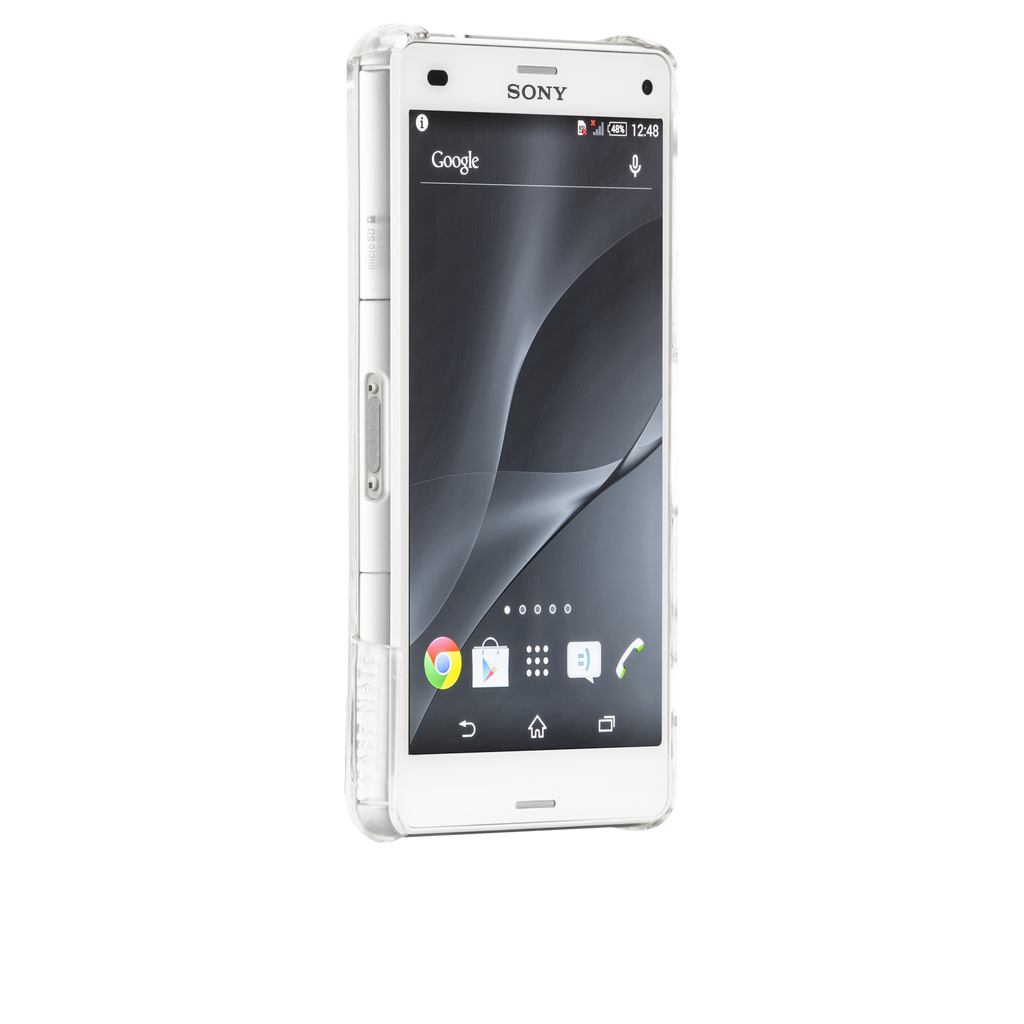 Sony Xperia Z3 Compact Clear Barely There Case - image angle 2