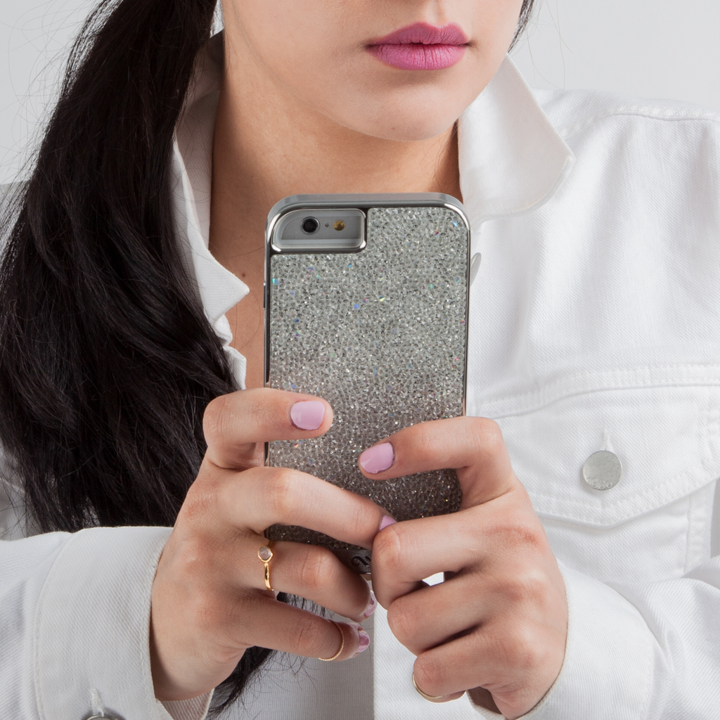 iPhone 6 Silver Diamond Brilliance Case - lifestyle angle 2