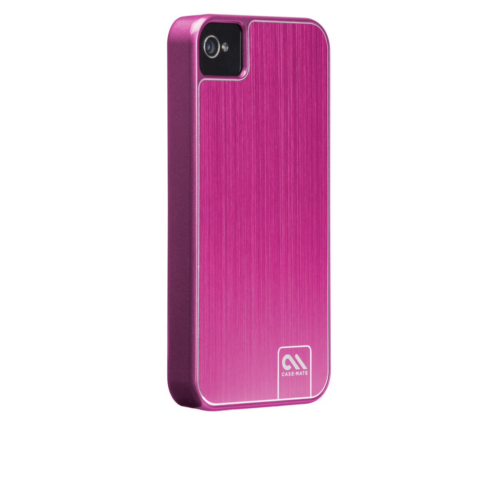 iPhone 4/4s Hot Pink Brushed Aluminum Case - image angle 1