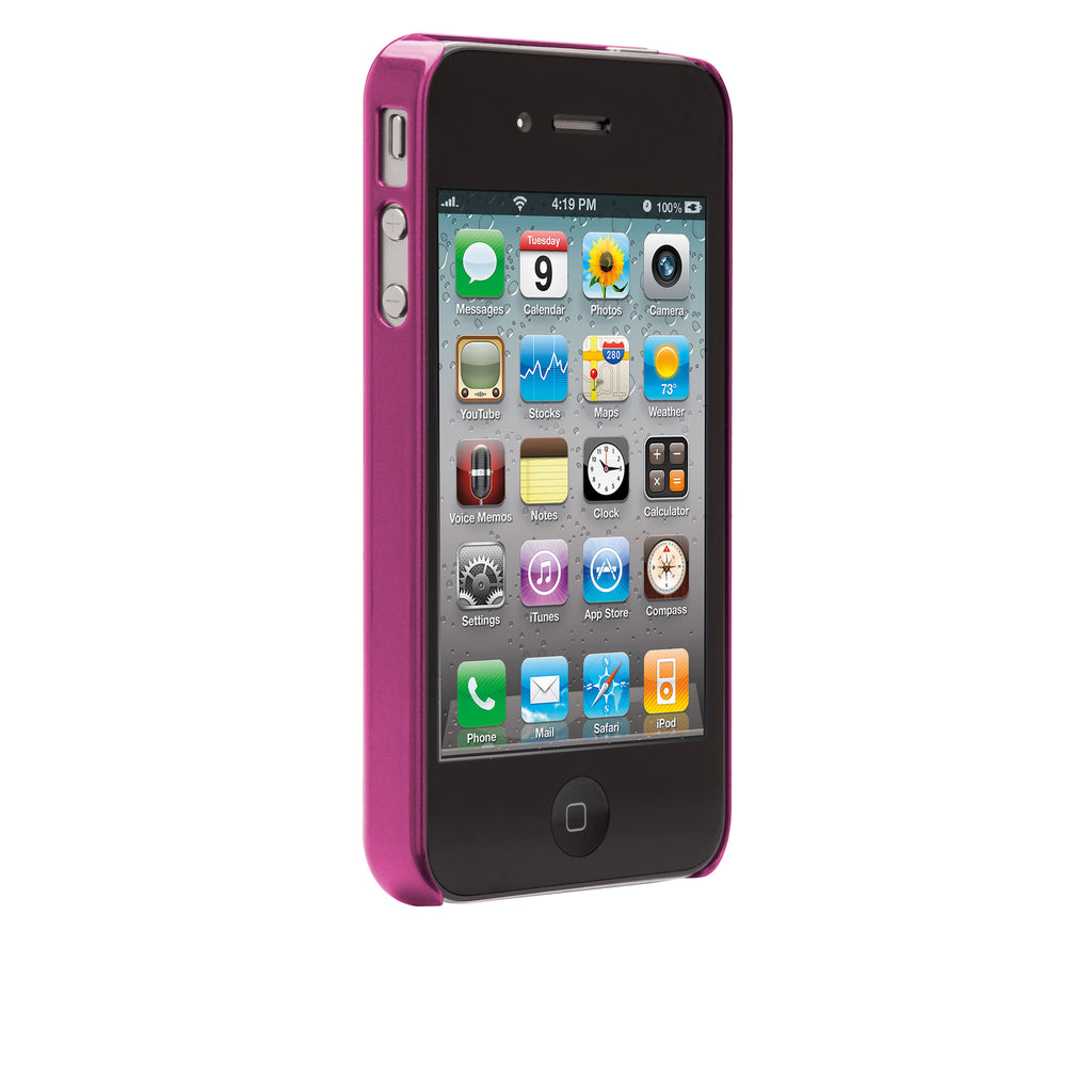 iPhone 4/4s Hot Pink Brushed Aluminum Case - image angle 2