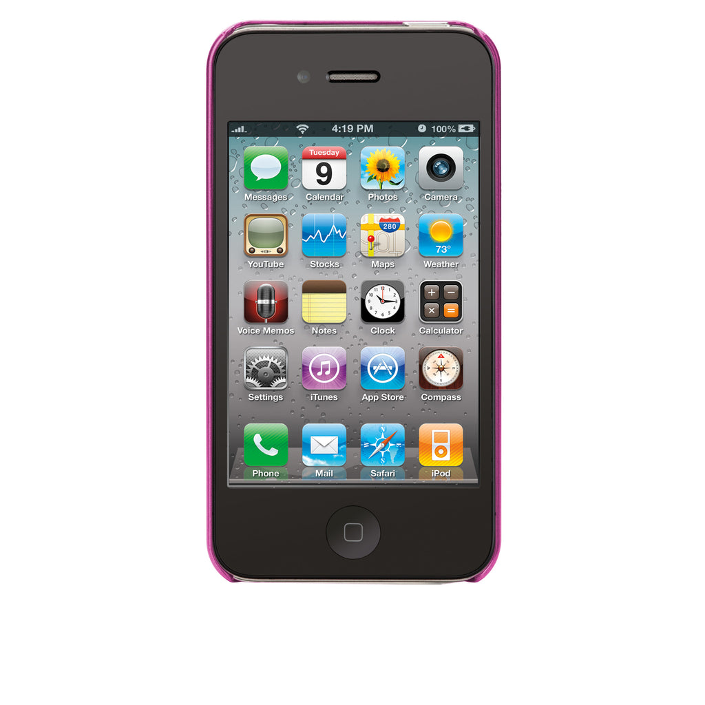 iPhone 4/4s Hot Pink Brushed Aluminum Case - image angle 6