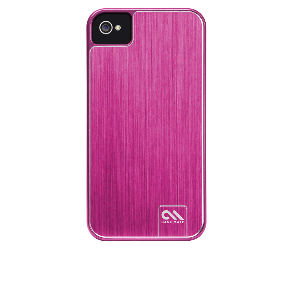 iPhone 4/4s Hot Pink Brushed Aluminum Case - image angle 7