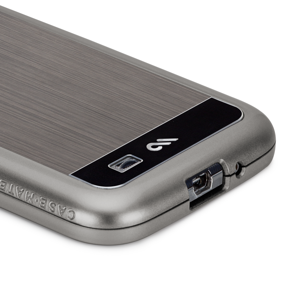 Samsung GALAXY S4 Gunmetal & Black Brushed Aluminum Case - image angle 10