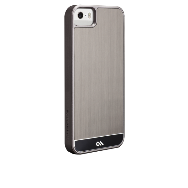 iPhone 5/5s Gunmetal & Black Brushed Aluminum Case - image angle 1.PNG