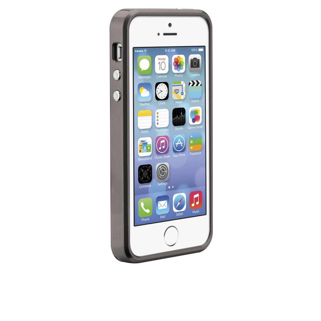 iPhone 5/5s Gunmetal & Black Brushed Aluminum Case - image angle 2