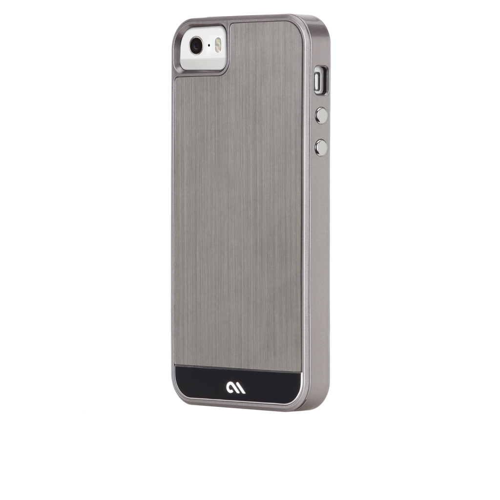 iPhone 5/5s Gunmetal & Black Brushed Aluminum Case - image angle 3