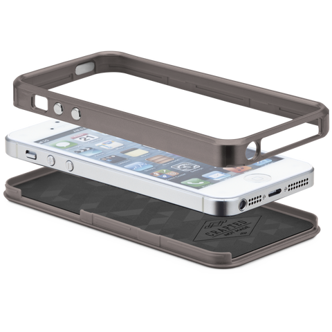 iPhone 5/5s/SE Brushed Aluminum Case - Gunmetal & Black