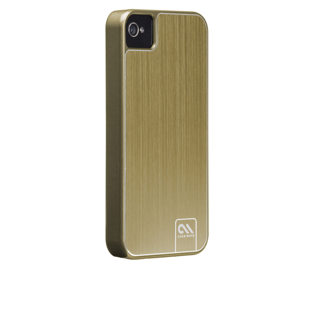 iPhone 4/4s Gold Brushed Aluminum Case - image angle 1