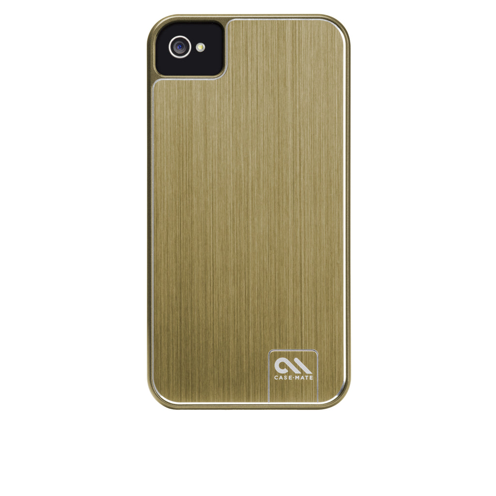 iPhone 4/4s Gold Brushed Aluminum Case - image angle 7