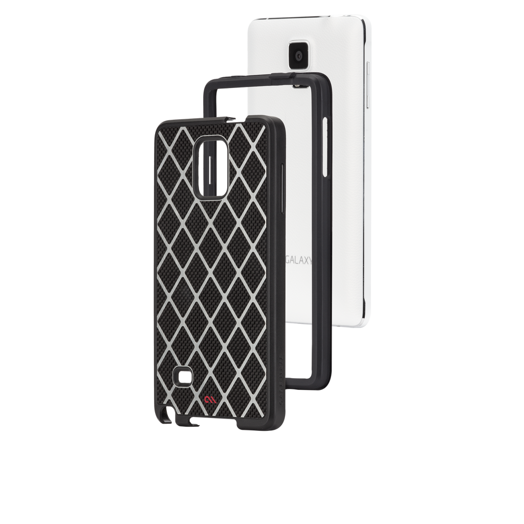 Samsung GALAXY Note 4 Black Carbon Alloy Case - image angle 8