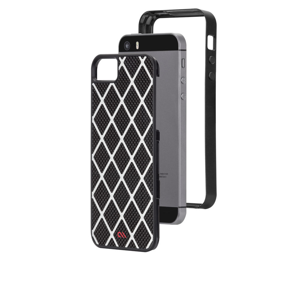 iPhone 5/5s Black Carbon Alloy Case - image angle 8