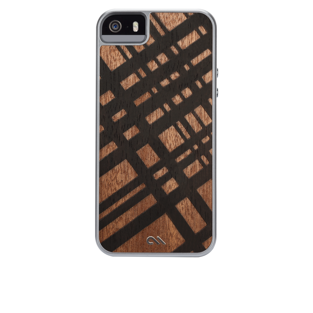 iPhone SE Brown Carved Mahogany Woods Case - image angle 7
