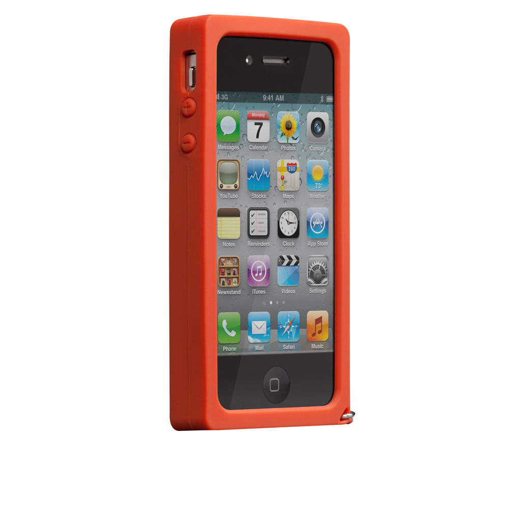 iPhone 4/4s Red Parrot Creatures Case - image angle 2